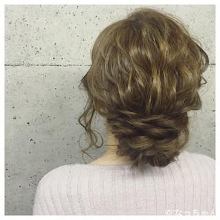 お呼ばれ ロング パーティ ヘアアレンジ ヘアスタイルや髪型の写真・画像