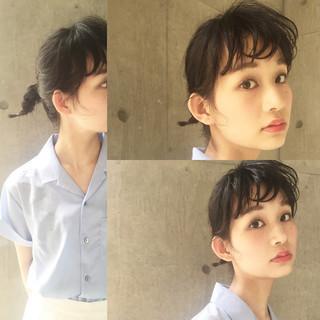パーマ 簡単 黒髪 暗髪 ヘアスタイルや髪型の写真・画像 ヘアスタイルや髪型の写真・画像