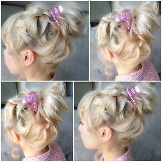 ヘアアレンジ ハイライト ショート 外国人風 ヘアスタイルや髪型の写真・画像