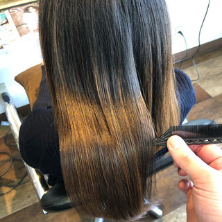 縮毛矯正 ロング 美髪 髪質改善トリートメント ヘアスタイルや髪型の写真・画像