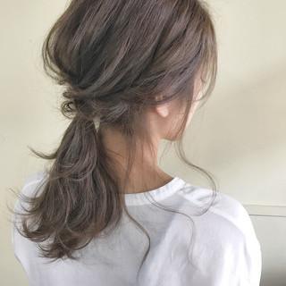 夏 デート 涼しげ 色気 ヘアスタイルや髪型の写真・画像
