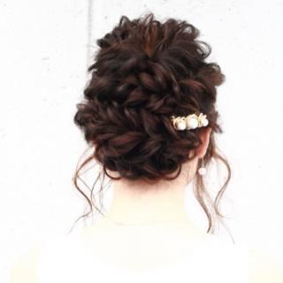結婚式 ヘアアレンジ 愛され モテ髪 ヘアスタイルや髪型の写真・画像