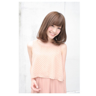 アップスタイル ヘアアレンジ セミロング ナチュラル ヘアスタイルや髪型の写真・画像
