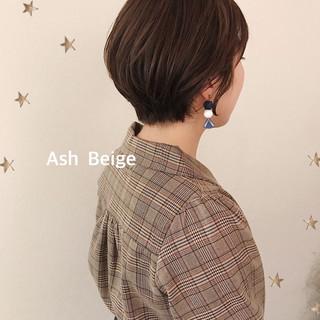 ナチュラル 丸みショート ショートボブ ショート ヘアスタイルや髪型の写真・画像