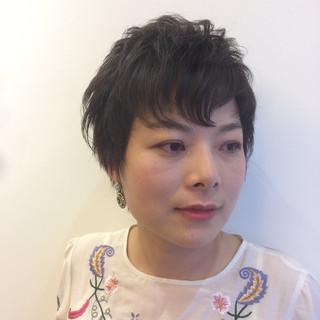 パーマ 大人女子 ストリート ショート ヘアスタイルや髪型の写真・画像
