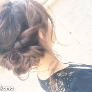 結婚式 大人かわいい モテ髪 コンサバ ヘアスタイルや髪型の写真・画像
