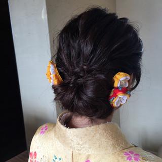 ナチュラル ヘアアレンジ ロング 謝恩会 ヘアスタイルや髪型の写真・画像