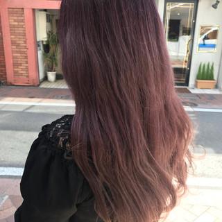 ピンクアッシュ ピンク グラデーションカラー ガーリー ヘアスタイルや髪型の写真・画像