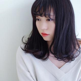 暗髪 前髪あり ゆるふわ ストリート ヘアスタイルや髪型の写真・画像 ヘアスタイルや髪型の写真・画像