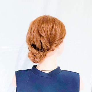 ロング ヘアアレンジ 結婚式 簡単ヘアアレンジ ヘアスタイルや髪型の写真・画像