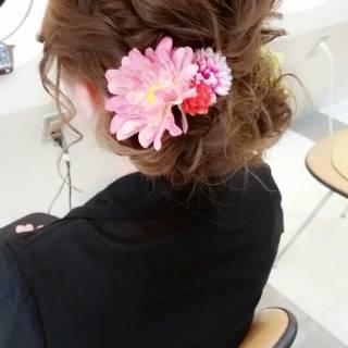 愛され フェミニン ヘアアレンジ 春 ヘアスタイルや髪型の写真・画像