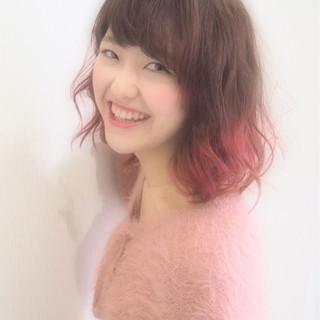 ミディアム フェミニン ふんわり デート ヘアスタイルや髪型の写真・画像