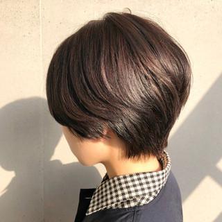 横顔美人 ショート イルミナカラー ショートヘア ヘアスタイルや髪型の写真・画像