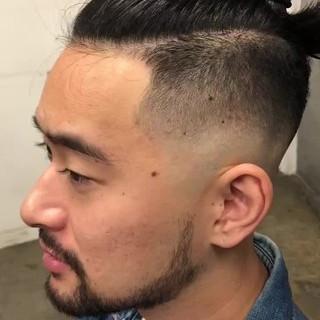 ストリート フェードカット ベリーショート メンズカット ヘアスタイルや髪型の写真・画像