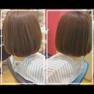 ボブ 髪質改善トリートメント 艶髪 大人ヘアスタイル ヘアスタイルや髪型の写真・画像