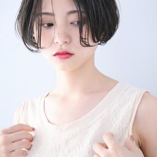 ハンサムショート ナチュラル ショートヘア パーマ ヘアスタイルや髪型の写真・画像