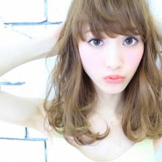 モテ髪 セミロング コンサバ 大人かわいい ヘアスタイルや髪型の写真・画像