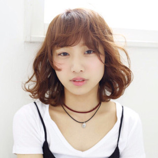 外国人風 ストリート ブラウン パーマ ヘアスタイルや髪型の写真・画像