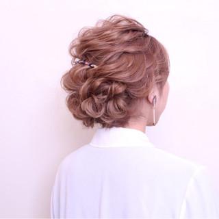 ナチュラル 結婚式 ヘアアレンジ ショート ヘアスタイルや髪型の写真・画像