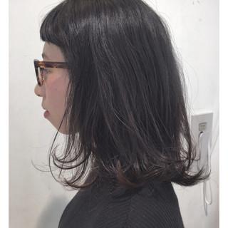 ミディアム パーマ ボブ ゆるふわ ヘアスタイルや髪型の写真・画像