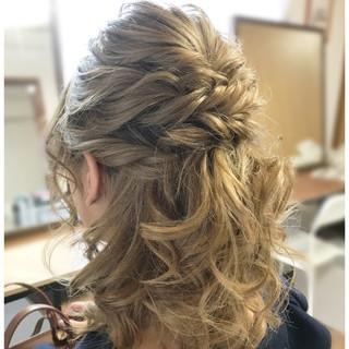 女子会 色気 ヘアアレンジ ミディアム ヘアスタイルや髪型の写真・画像