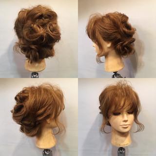夏 結婚式 お祭り くるりんぱ ヘアスタイルや髪型の写真・画像 ヘアスタイルや髪型の写真・画像