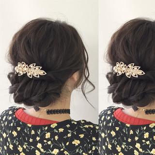 結婚式 ナチュラル 女子会 簡単ヘアアレンジ ヘアスタイルや髪型の写真・画像