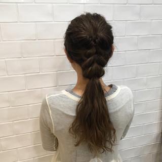 ヘアアレンジ ベージュ ショート ロング ヘアスタイルや髪型の写真・画像