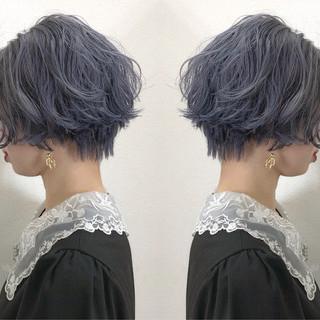 ショートヘア 小顔ショート マッシュショート モード ヘアスタイルや髪型の写真・画像