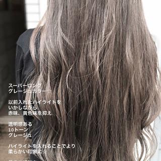 アンニュイほつれヘア ロング イルミナカラー ナチュラル ヘアスタイルや髪型の写真・画像