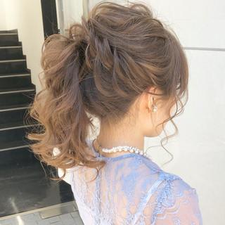 デート セミロング ヘアアレンジ 簡単ヘアアレンジ ヘアスタイルや髪型の写真・画像 ヘアスタイルや髪型の写真・画像