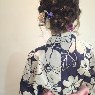 大人かわいい ゆるふわ お祭り セミロング ヘアスタイルや髪型の写真・画像