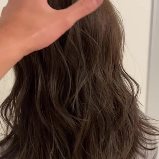アンニュイほつれヘア グレージュ セミロング イルミナカラー ヘアスタイルや髪型の写真・画像