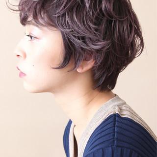 ブリーチ ショート ピンクアッシュ ダブルカラー ヘアスタイルや髪型の写真・画像