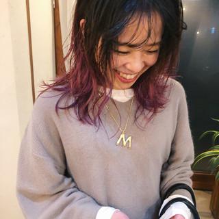 ストリート アンニュイほつれヘア ヘアアレンジ ミディアム ヘアスタイルや髪型の写真・画像
