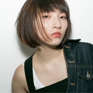 ストレート ストリート 外国人風 ボブ ヘアスタイルや髪型の写真・画像