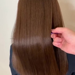 トリートメント 美髪矯正 美髪 髪質改善トリートメント ヘアスタイルや髪型の写真・画像