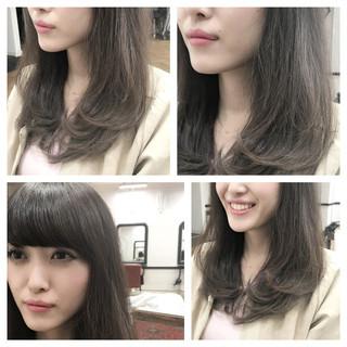 外国人風 ハイライト グラデーションカラー ベージュ ヘアスタイルや髪型の写真・画像