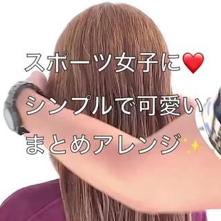 ねじり ロング アップスタイル 簡単ヘアアレンジ ヘアスタイルや髪型の写真・画像 ヘアスタイルや髪型の写真・画像