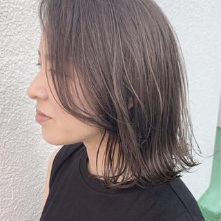ナチュラル 大人ハイライト ハイライト 透明感カラー ヘアスタイルや髪型の写真・画像