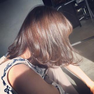 ストリート グラデーションカラー 大人女子 ボブ ヘアスタイルや髪型の写真・画像