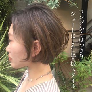 ショート パーマ 30代 ハンサムショート ヘアスタイルや髪型の写真・画像