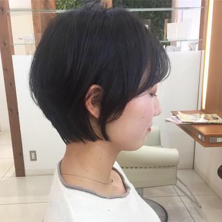 ショートボブ ナチュラル 小顔ショート 大人可愛い ヘアスタイルや髪型の写真・画像