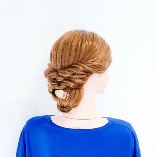 フェミニン くるりんぱ 女子力 ヘアアレンジ ヘアスタイルや髪型の写真・画像