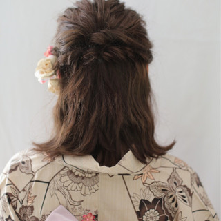 くるりんぱ 外ハネ 和装 レトロ ヘアスタイルや髪型の写真・画像 ヘアスタイルや髪型の写真・画像