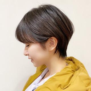 ショート ナチュラル ショートボブ ショートヘア ヘアスタイルや髪型の写真・画像