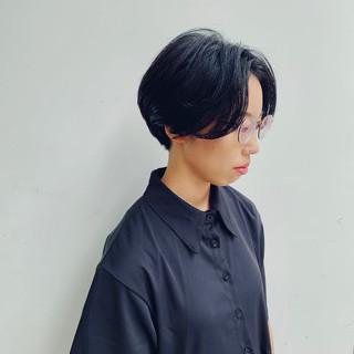 モード 大人ショート ショート 黒髪 ヘアスタイルや髪型の写真・画像