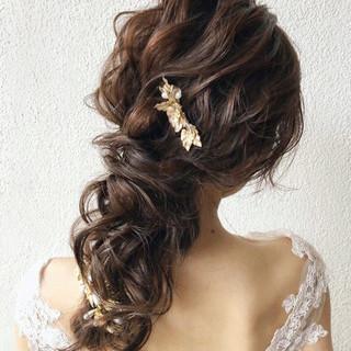 ロング 大人女子 結婚式ヘアアレンジ ヘアアレンジ ヘアスタイルや髪型の写真・画像