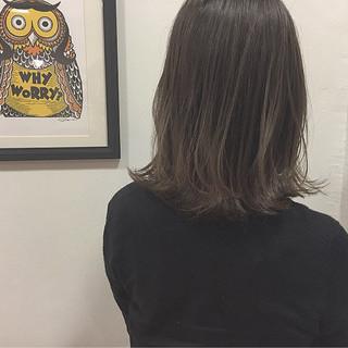 切りっぱなし アッシュ ボブ ロブ ヘアスタイルや髪型の写真・画像