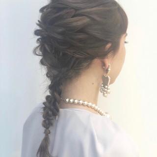 セミロング 成人式 結婚式 イルミナカラー ヘアスタイルや髪型の写真・画像